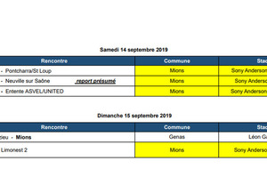 Les rencontres du Week-End !